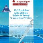 Rencontres culturelles maçonniques lyon ou Salon du livre maçonnique lyonnais les 19 et 20 Octobre 2018