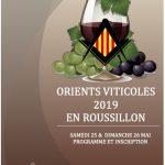 ORIENTS VITICOLES 2019 EN ROUSSILLON 25 ET 26 MAI
