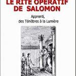 CHERCHE LIVRE : LE RITE OPERATIF DE SALOMON, Apprenti