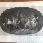 gravure d'Alexandre Jazet (d'après Faustin Besson) La Jeunesse de Lantara