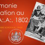 Cérémonie d'initiation au R:.E:.A:.A:. 1802 à Bègles